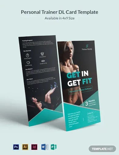 personal trainer dl card template