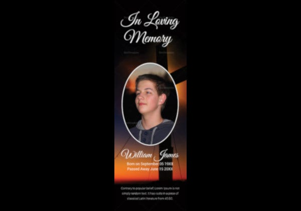 personalized-funeral-bookmark-template