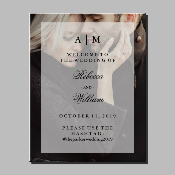 photo overlay wedding poster template