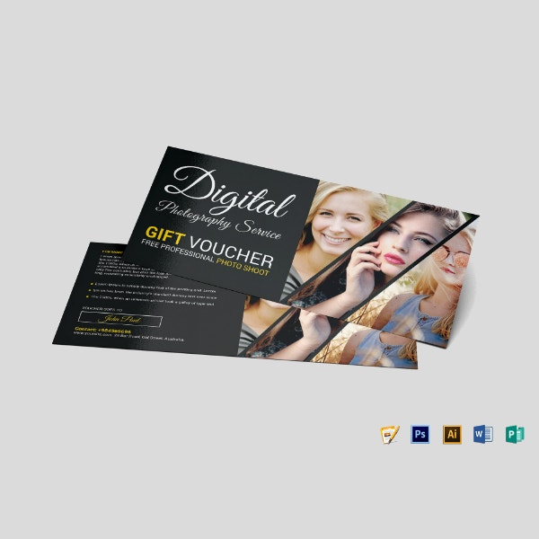 photo session gift voucher layout