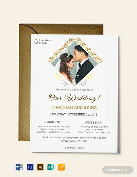 14  best wedding invitation templates