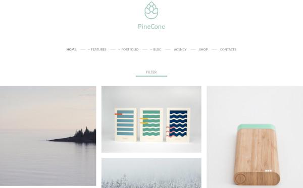 pinecone typography wordpress theme