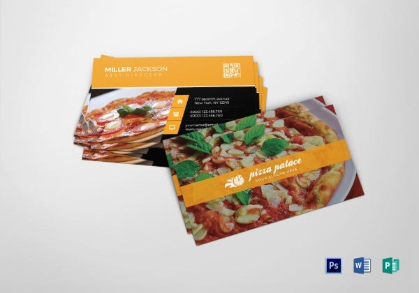 pizza business card1