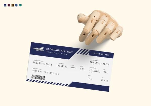 plane ticket mock up