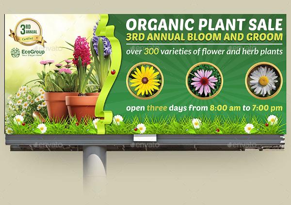 plant sale show billboard template