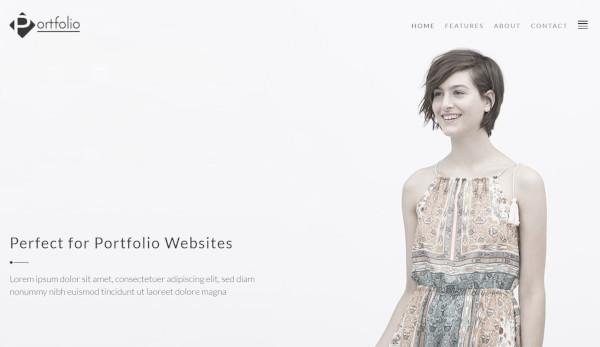 portfolio 600 google fonts wordpress theme