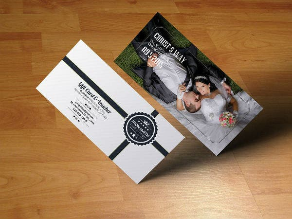 portrait wedding gift voucher template