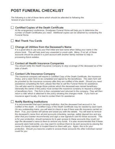 post-funeral-checklist-template