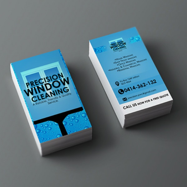 precision window cleaning business card