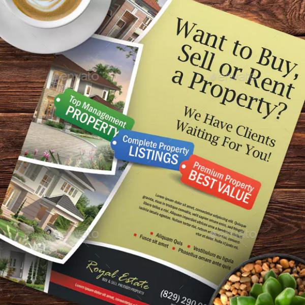 premium real estate flyer format