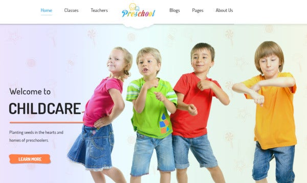 preschool woocommerce compatible wordpress theme