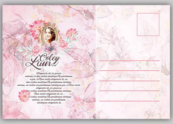 printable funeral postcard design