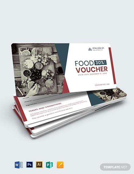 printable school food voucher example