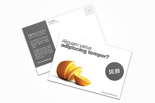 product sale postcard