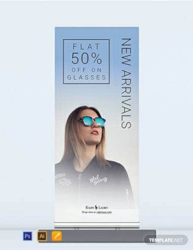product sale roll up banner