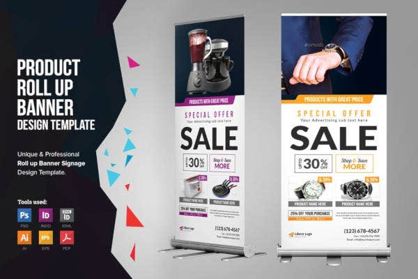 product sale rollup banner example
