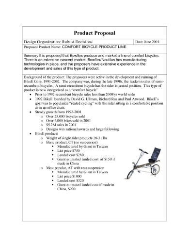 product sales proposal
