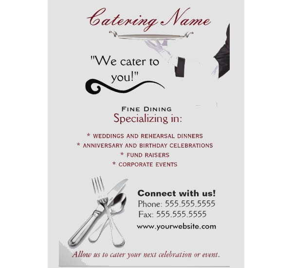 professional catering flyers1