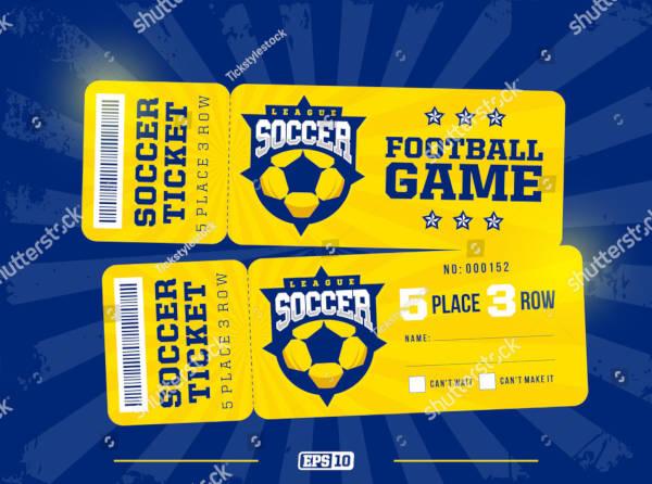 Professional Design Soccer Ticket