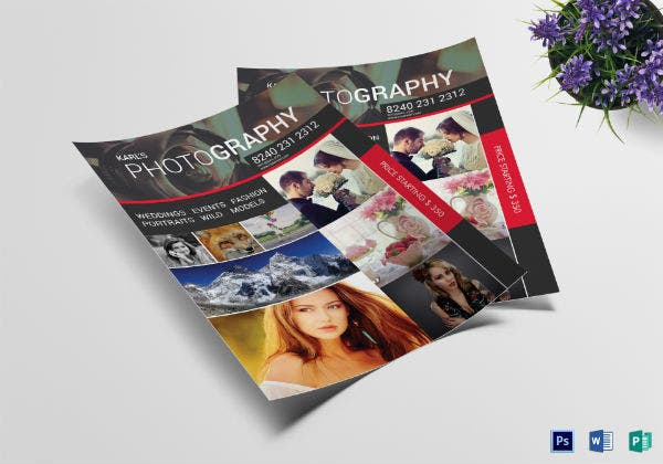professional wedding photography flyer template