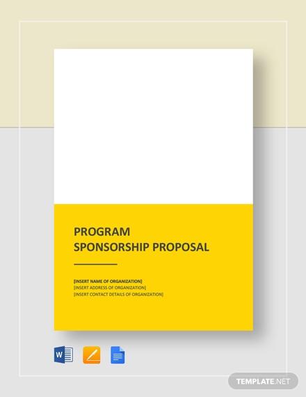program sponsorship proposal