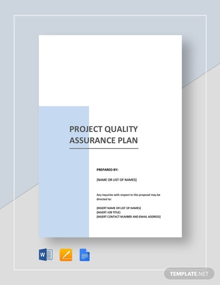project quality assurance plan