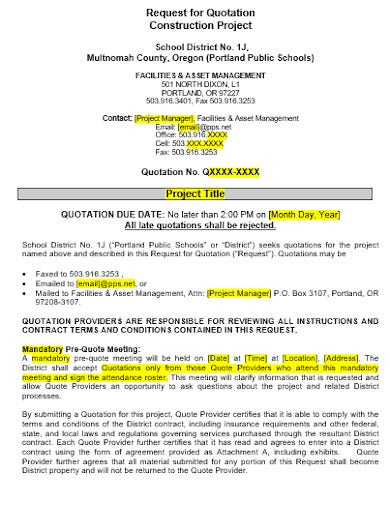 project quotation template in doc