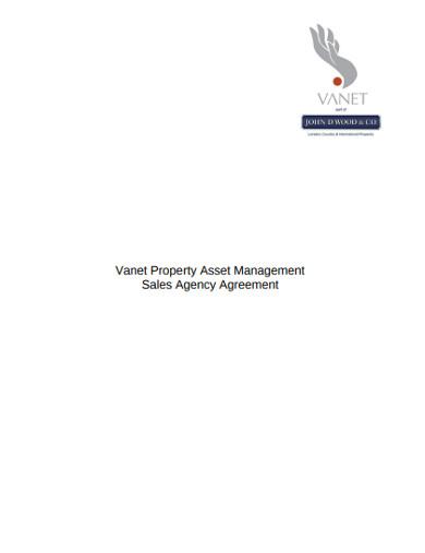 property asset management sales agency agreement