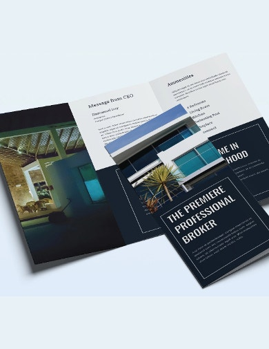 property sales brochure template