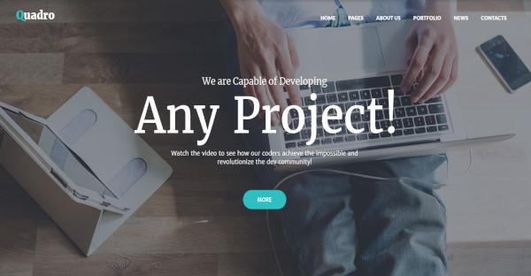 quadro custom widgets wordpress theme