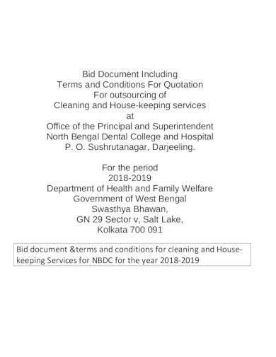 quotation for cleaning service sample