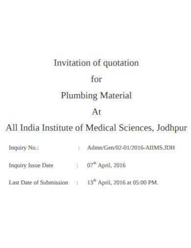 quotation-for-plumbing-material