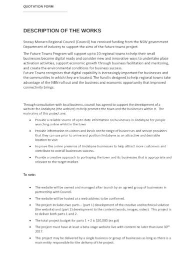 quotation for website development
