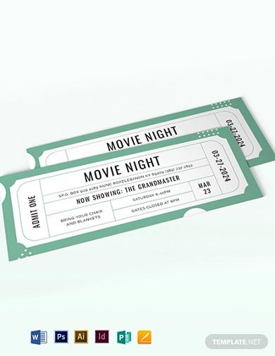 raffle movie ticket template1