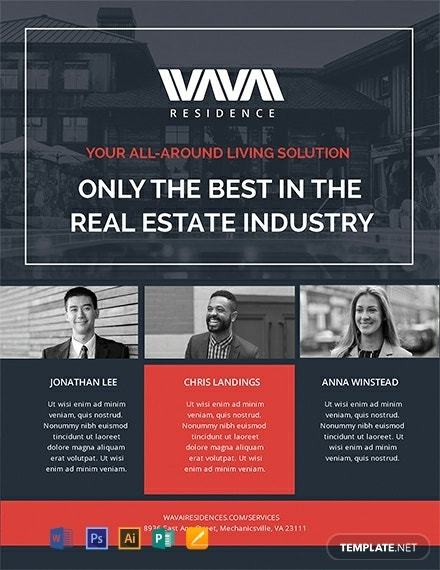 real estate agent flyer layout