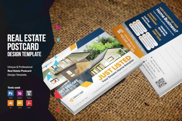 real estate sales postcard
