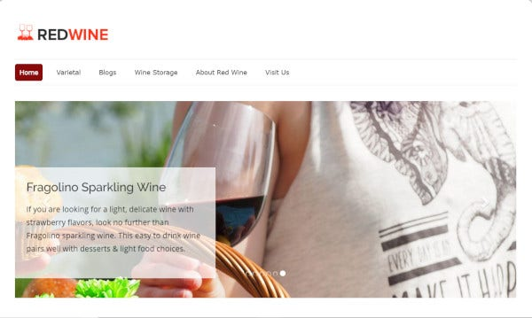 redwine well documented wordpress theme