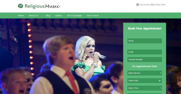 Religiousmusic – Customized WordPress Theme