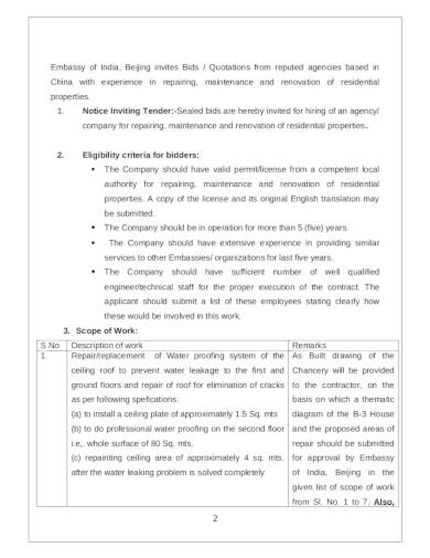 renovation quotation format