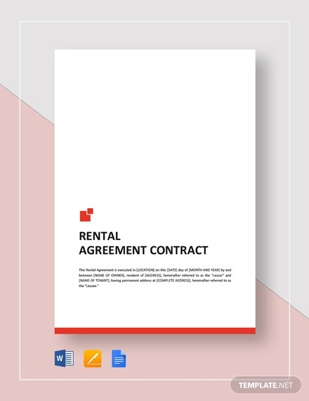 rental agreement contract 2