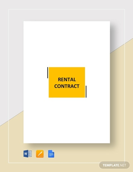 rental contract template