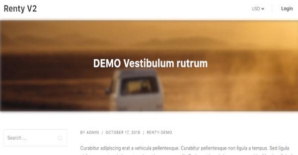 Renty – Mobile friendly WordPress Theme