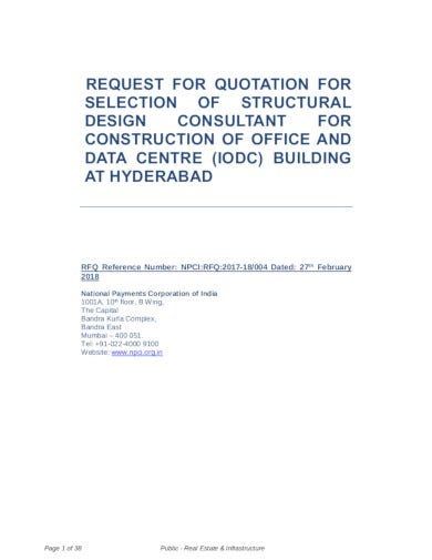 request quotation for building