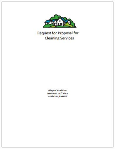 request for cleaning services proposal