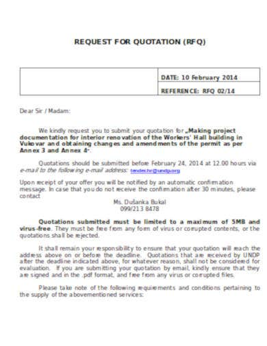 request for personal injury quotation