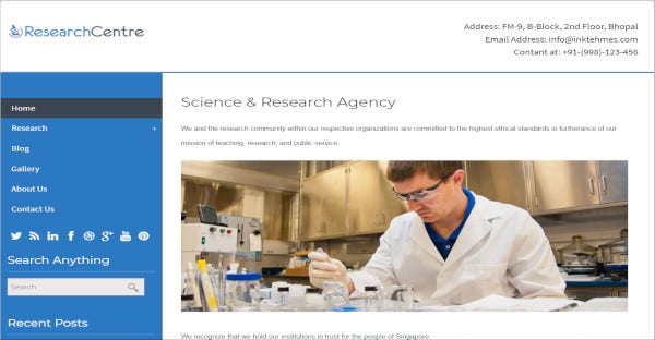researchcenter cross browser wordpress theme
