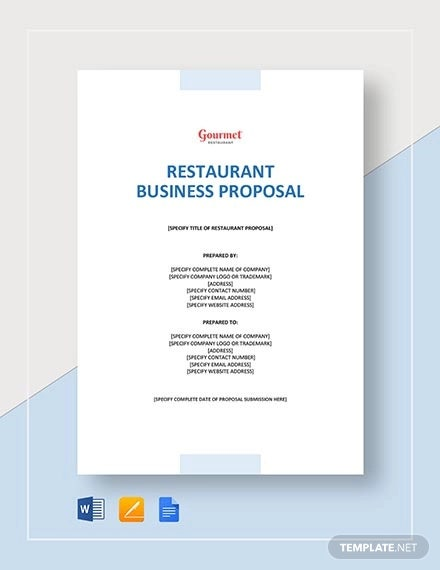 How to Write a Restaurant Proposal - Free PDF, DOC Format Download