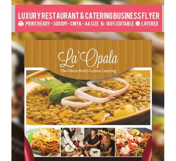 restaurant catering business flyer