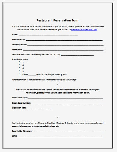 Restaurant Reservation Book Template from images.template.net