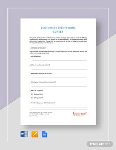 restaurant-customer-expectation-survey